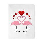 Flamingo Hearts Twin Duvet