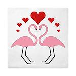 Flamingo Hearts Queen Duvet