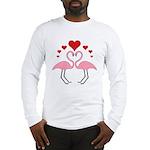 Flamingo Hearts Long Sleeve T-Shirt