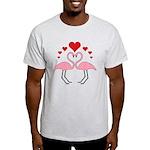 Flamingo Hearts Light T-Shirt