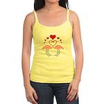 Flamingo Hearts Jr. Spaghetti Tank