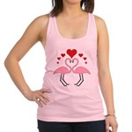 Flamingo Hearts Racerback Tank Top