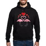 Flamingo Hearts Hoodie (dark)