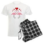 Flamingo Hearts Men's Light Pajamas