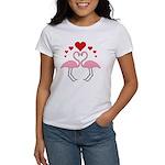 Flamingo Hearts Women's T-Shirt