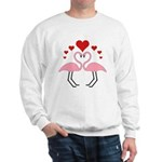 Flamingo Hearts Sweatshirt