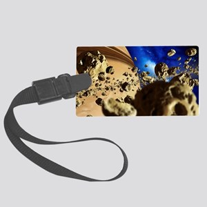 The rings of Saturn, artwork - Large Luggage Tag