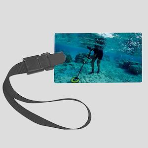 Underwater metal detecting - Large Luggage Tag