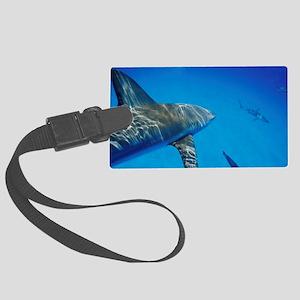 Caribbean reef sharks - Large Luggage Tag