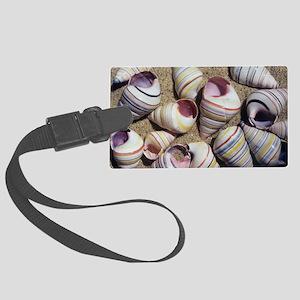 Freshwater snail shells - Large Luggage Tag