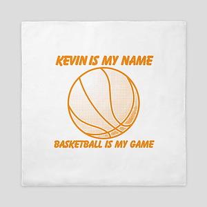 Basketball Is My Game Queen Duvet