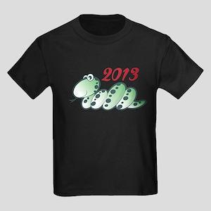 2013 - YEAR OF THE SNAKE Kids Dark T-Shirt
