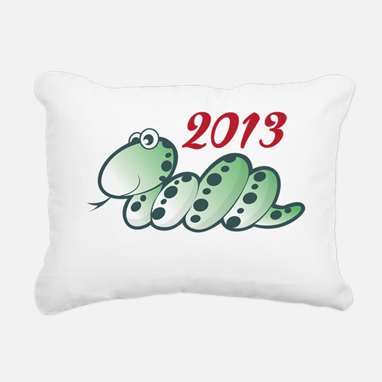 2013 - YEAR OF THE SNAKE Rectangular Canvas Pillow