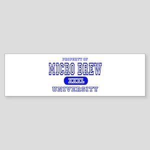 Microbrew University Beer Bumper Sticker