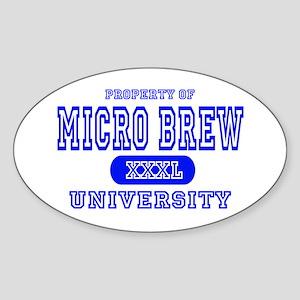 Microbrew University Beer Oval Sticker