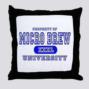 Microbrew University Beer Throw Pillow