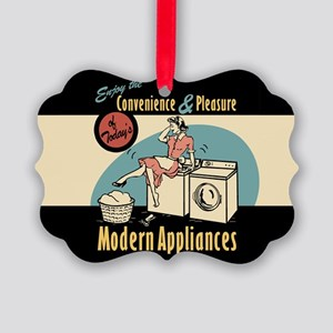 Retro Modern Appliances Picture Ornament