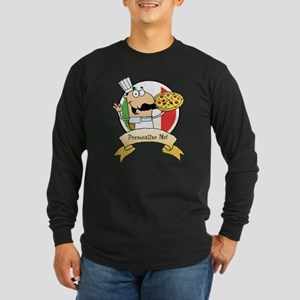 Italian Pizza Chef Long Sleeve Dark T-Shirt