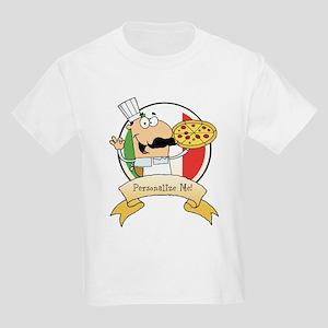 Italian Pizza Chef Kids Light T-Shirt