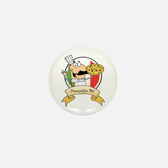 Italian Pizza Chef Mini Button