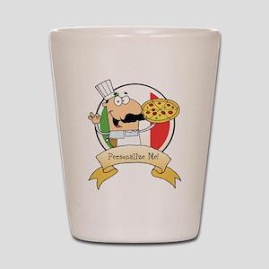 Italian Pizza Chef Shot Glass