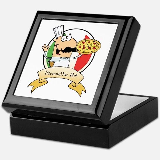 Italian Pizza Chef Keepsake Box