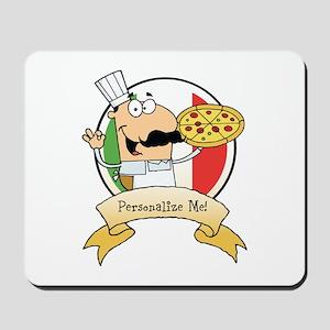 Italian Pizza Chef Mousepad