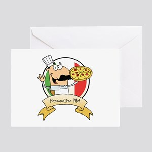 Italian Pizza Chef Greeting Card