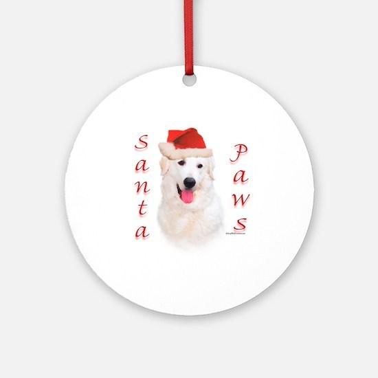 Santa Paws Kuvasz Ornament (Round)