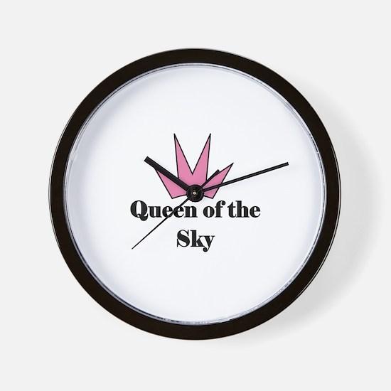 Queen of the Sky (pink) Wall Clock