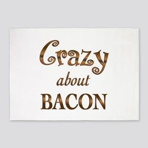 Crazy About Bacon 5'x7'Area Rug