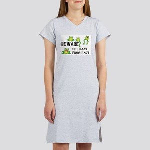 Beware of Crazy Frog Lady Women's Nightshirt