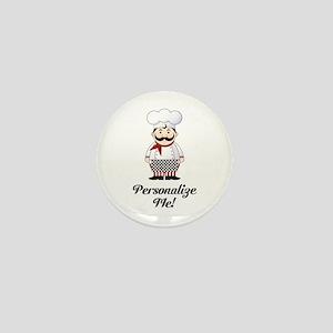 Personalized French Chef Mini Button