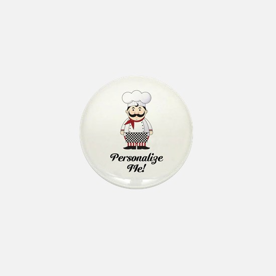 Personalized French Chef Mini Button