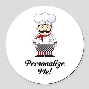 Personalized French Chef Round Car Magnet