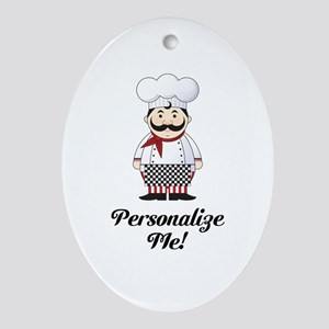 Personalized French Chef Ornament (Oval)
