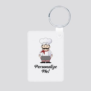Personalized French Chef Aluminum Photo Keychain