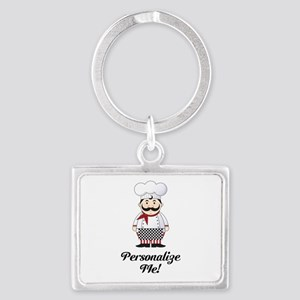Personalized French Chef Landscape Keychain