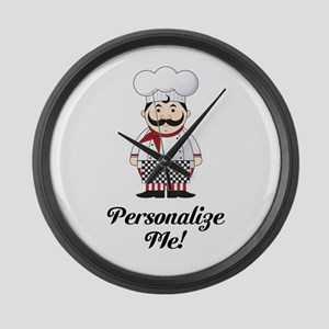Personalized French Chef Large Wall Clock