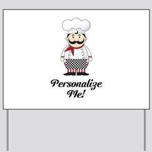 Personalized French Chef Yard Sign