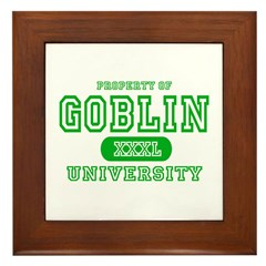 Wicked Witch University Halloween Framed Tile