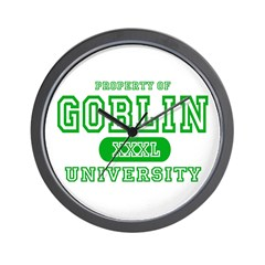 Wicked Witch University Halloween Wall Clock