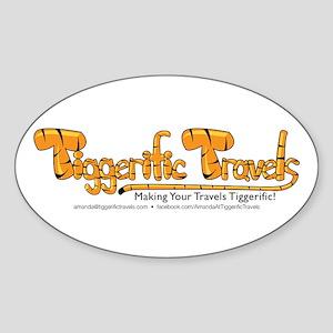 Tiggerific Travels Sticker (Oval)