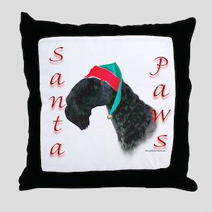 Santa Paws Kerry Blue Throw Pillow