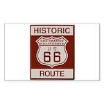 Oro Grande Route 66 Sticker (Rectangle 50 pk)