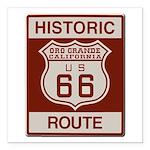 Oro Grande Route 66 Square Car Magnet 3