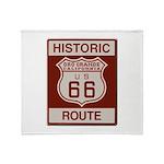 Oro Grande Route 66 Throw Blanket