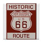 Oro Grande Route 66 Tile Coaster
