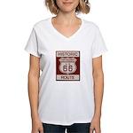 Oro Grande Route 66 Women's V-Neck T-Shirt