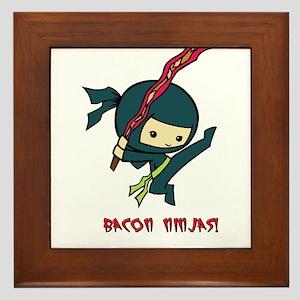 Bacon Ninjas Framed Tile